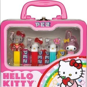 Hello Collectible Lunch Box with Pez dispensers
